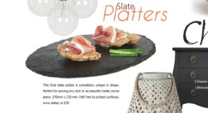 Irish Wedding Diary, Slate plate, slate platter,