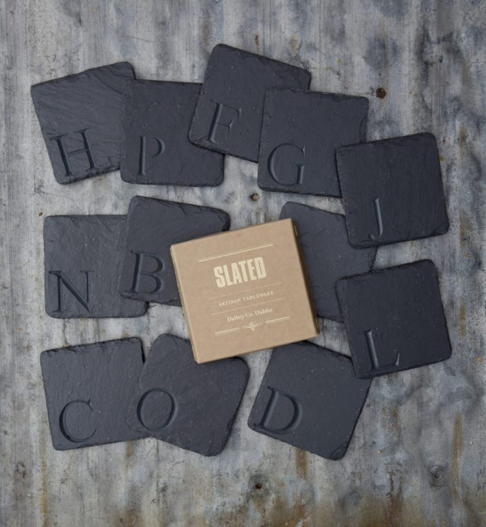 carved coasters, slated.ie, slated, slated ireland, personal gift,