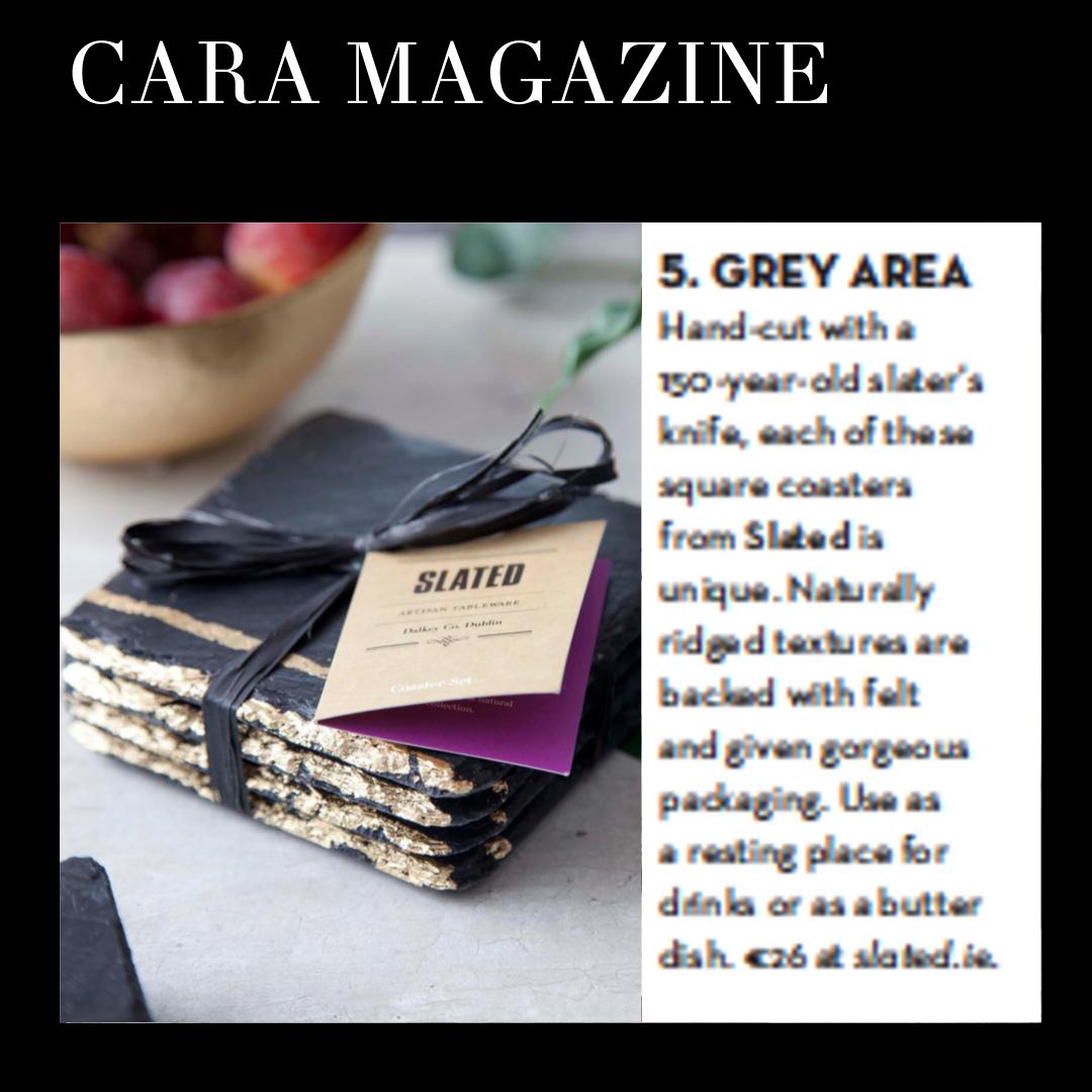 Slated Coasters, Cara Magazine Aer Lingus