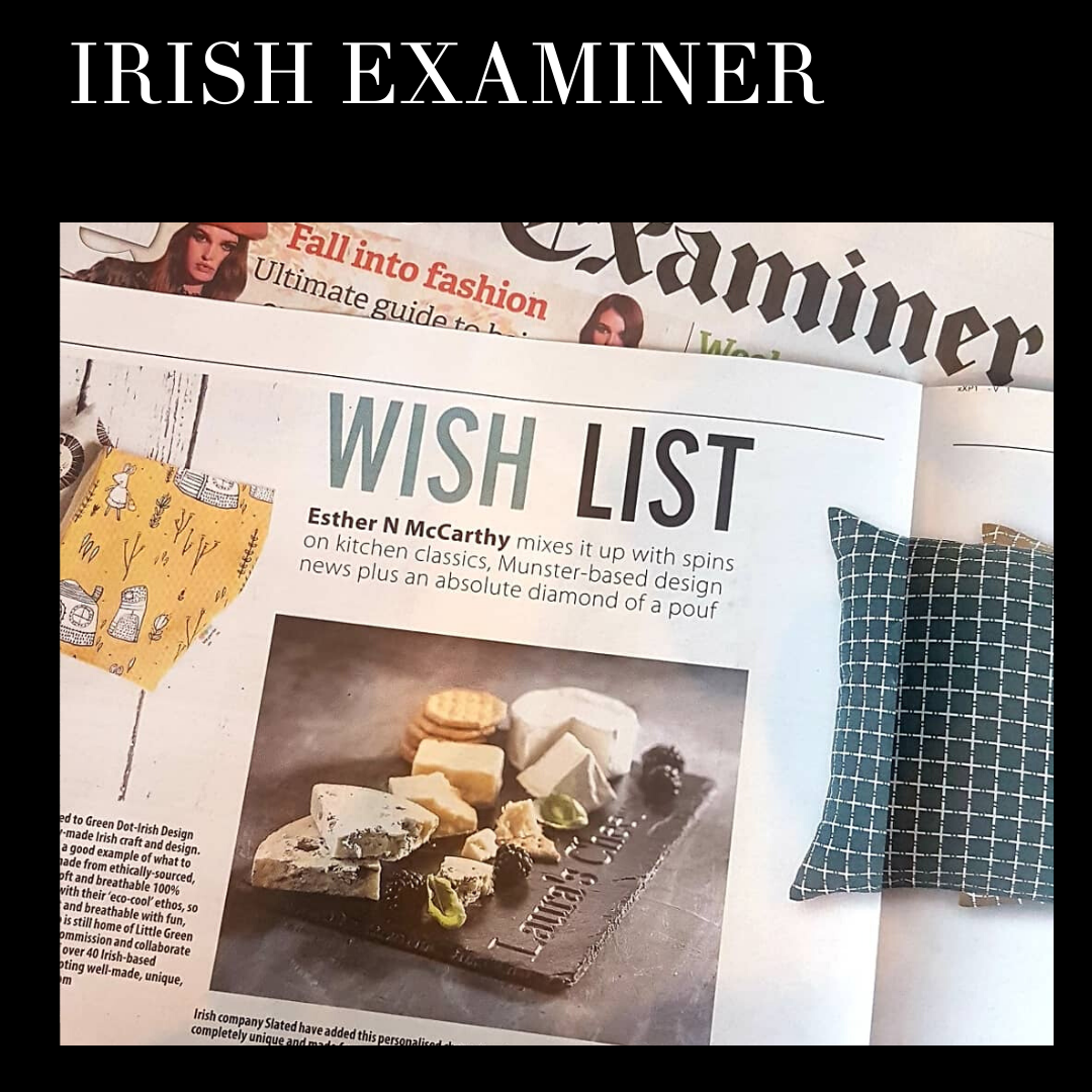 Irish Examiner, Slated.ie, Personalised cheeseboard,